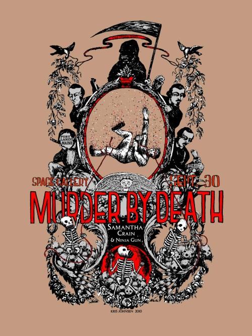 Murder By Death poster design - Kris Johnsen 2010