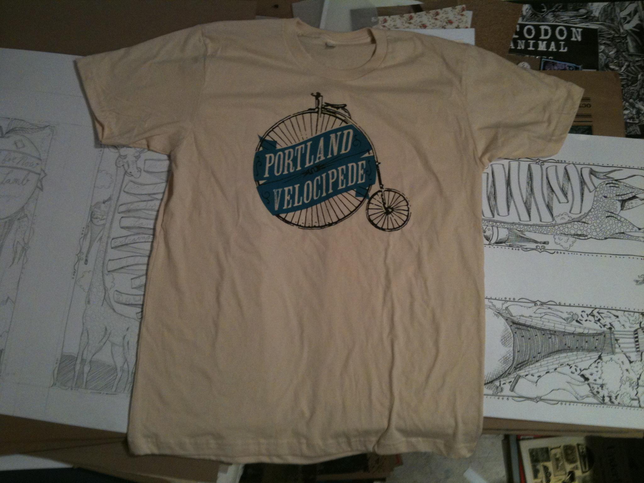 Portland velocipede t shirts kris johnsen art blog for T shirt printing in portland oregon