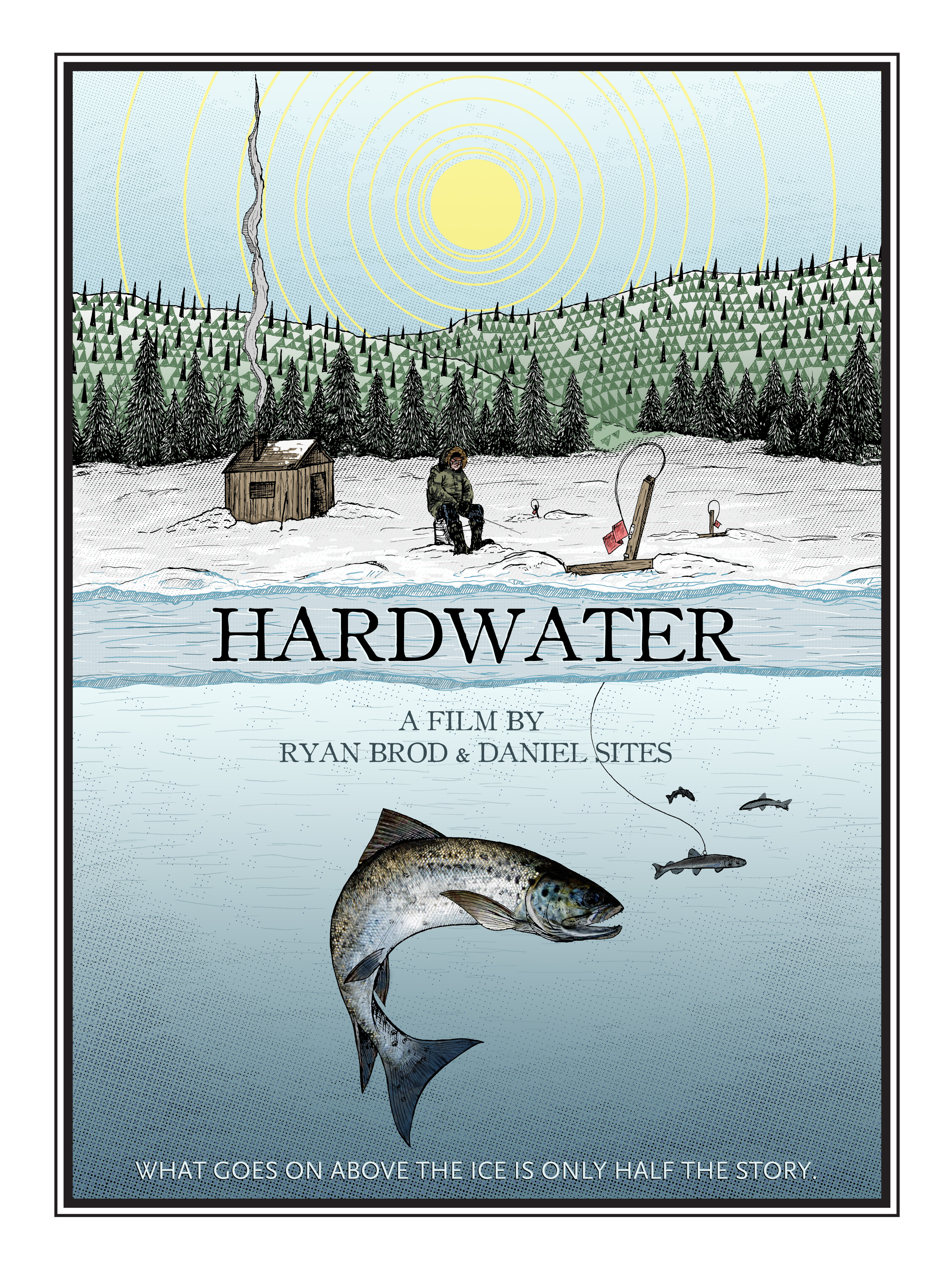 Poster design documentary - Hardwater Movie Poster Process Kris Johnsen 2011