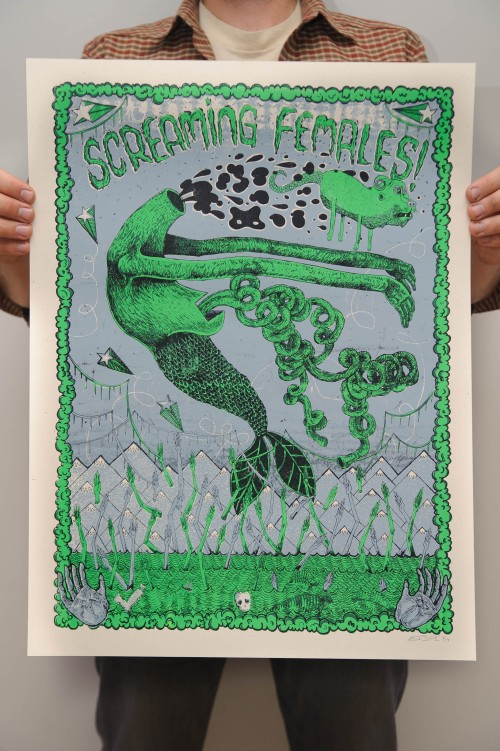 Screaming Females with The Underground Railroad to Candyland & Mouth Washington @ SPACE Gallery. Portland, ME. - Kris Johnsen + Marissa Paternoster 2011 Poster