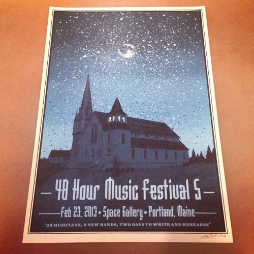 48 Hour Music Festival. Portland, ME - Kris Johnsen 2013