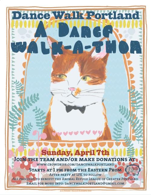 Dance Walk Portland A Dance Walk-a-thon Poster - Kris Johnsen 2013