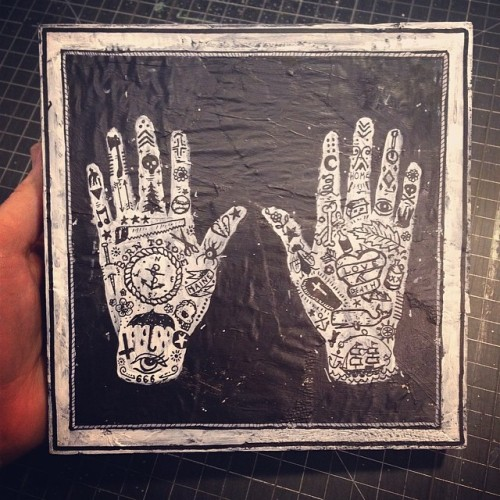 Kris Johnsen Tattooed Hands T-shirt