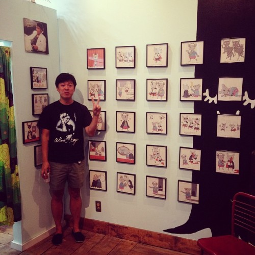 Eric Hou Art Show At Pineconechickadee All Month on Fill It Up Please Portland Maine