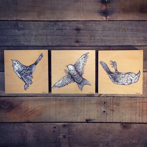 Dead Bird Paintings - Kris Johnsen 2014