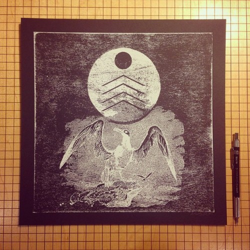 The Albatross Screen print - Kris Johnsen 2014